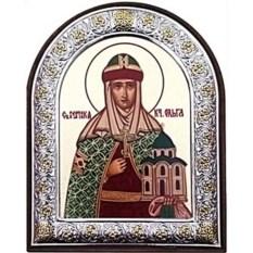 Серебряная икона Ольга Святая равноапостольная княгиня