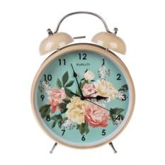 Настольные часы с будильником Прекрасные пионы