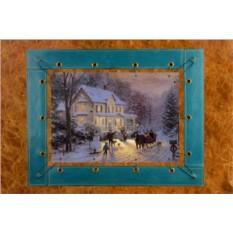 Картина из кожи Рождественский особняк Томас Кинкейд