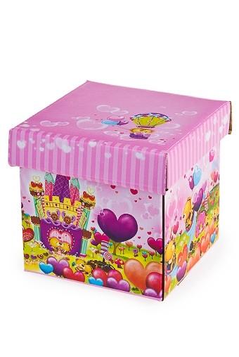 Коробка подарочная Леденцовый рай 21.5*21.5*22.5см