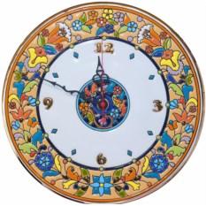 Круглые настенные часы (керамика)