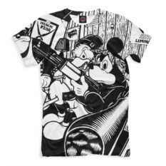 Мужская футболка Print Bar Микки и Дональд