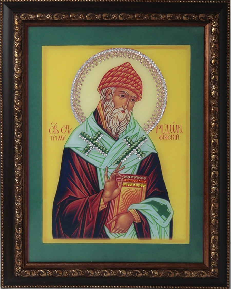 Картина с кристаллами Святитель Спиридон Тримифундский