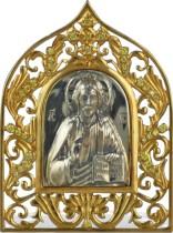 Серебряная настольная икона Господь Вседержитель