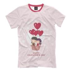 Мужская футболка На шаре любви