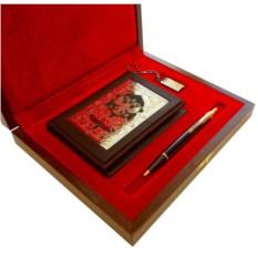 Подарочный набор Обложки на документы, Parker и флешка