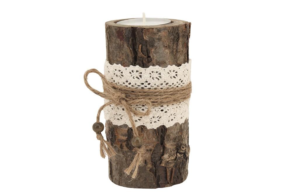 Деревянный подсвечник «Лесная кружевница»