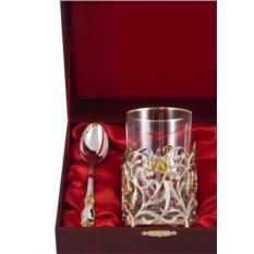 Набор для чая из 3 предметов с подстаканником Колокольчик