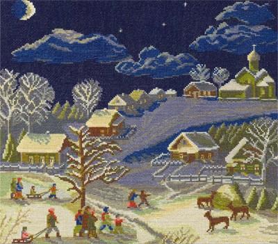 Набор для вышивания Panna Рождественская ночь