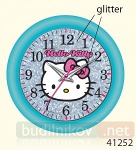 Детские настенные часы Hello Kitty (цвет голубой)