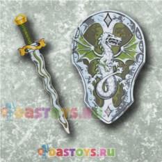 Игровой набор игровой щит и меч с драконом