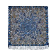 Павлопосадский шерстяной платок с рисунком Садко