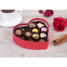 Набор шоколадных конфет ручной работы «Сердца»