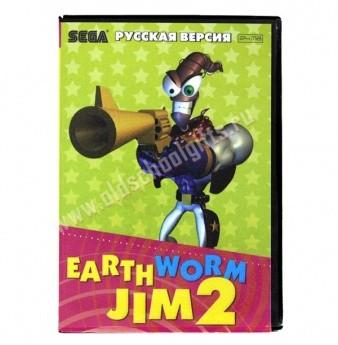 Картридж для Sega c игрой Earth Worm Jim 2