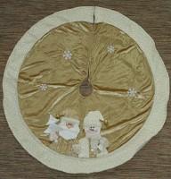 Новогоднее украшение «Коврик под ёлку», 120 см, золотистый