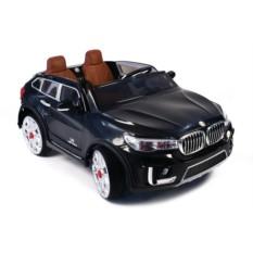 Чёрный детский электромобиль BMW с управлением