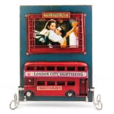 Двухсторонняя фоторамка Лондонский автобус