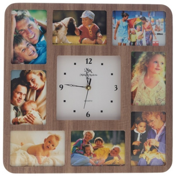 Часы с фото Улыбка (настенные часы-фоторамка)
