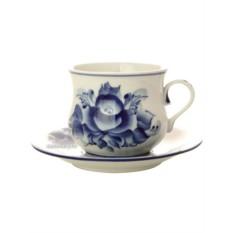 Чайная пара с художественной росписью Сервизная Гжель