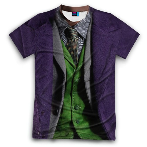 Мужская футболка 3D с полной запечаткой Джокер