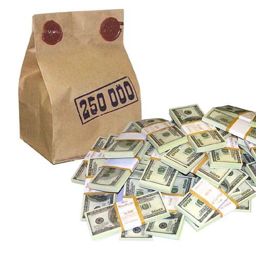 Мешок Четверть миллиона американских денег