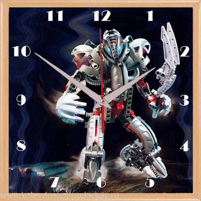 Настенные часы из песка Робот