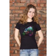 Женская футболка с вашим текстом Хамелеон