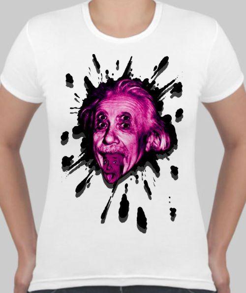 Женская футболка Энштейн