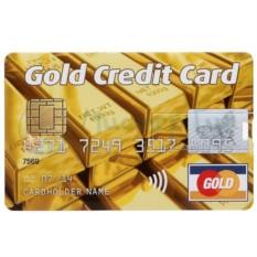 Флешка в виде кредитки Gold Credit Card на 8 Гб