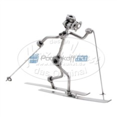 Статуэтка из металла Лыжник