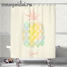 Шторка для ванной комнаты Тропический ананас