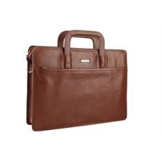 Коричневая кожаная мужская сумка Leo Ventoni