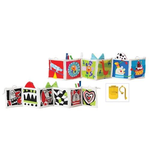 Игрушка для малышей Taf Toys Развивающая книжка Kooky с клипсами