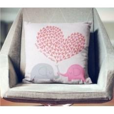 Декоративная наволочка Любви слонам