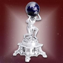 Скульптура Серебряный Атлант