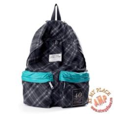 Серый клетчатый рюкзак