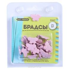 Брадсы Бабочки, цвет: розовый, 24 шт