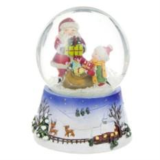 Фигурка Новогодний шар. Дед мороз и снегурочка