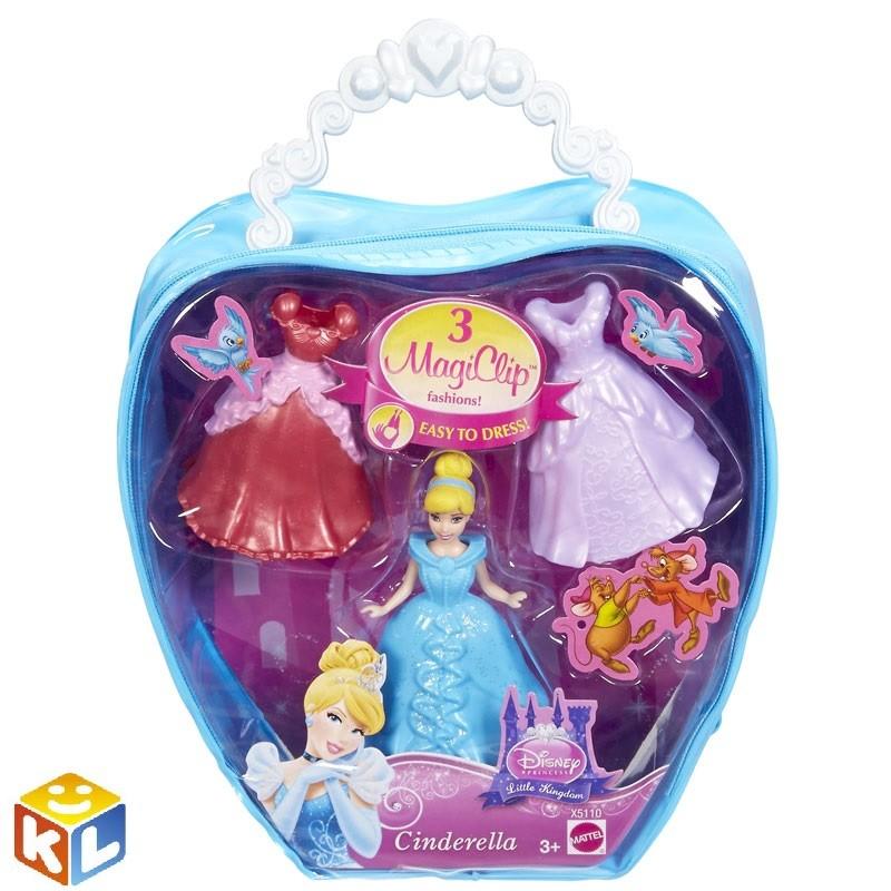 Подарочный набор в сумочке Мини-кукла Принцесса и 2 наряда