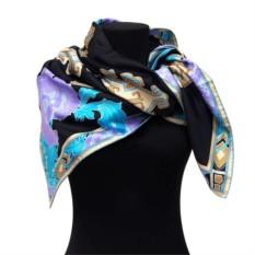 Темный платок с сиреневыми цветами Leonard