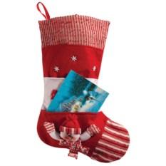 Красный посок для подарков с карманом