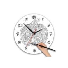 Круглые часы-раскраска
