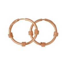 Золотые серьги в виде колец