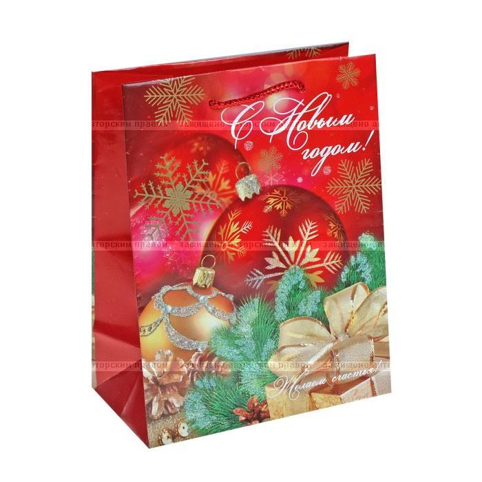 Новогодний пакет (18х23х10 см)