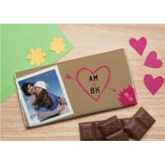 Шоколадная открытка Любимые инициалы