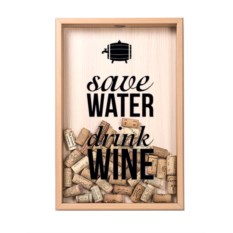 Копилка для винных пробок Save water, drink wine