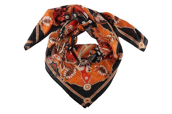 Оранжевый женский платок Leo Ventoni (шерсть)