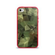 Силиконовый глянцевый чехол для Apple iPhone 4S Камуфляж