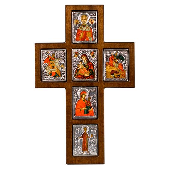 Православный крест с образами C33