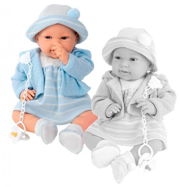Озвученная кукла-младенец Памела в голубом